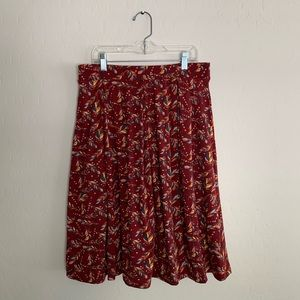 LulaRoe Red Floral Skirt